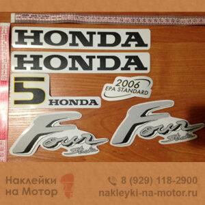 Наклейка на лодочный мотор Honda 5