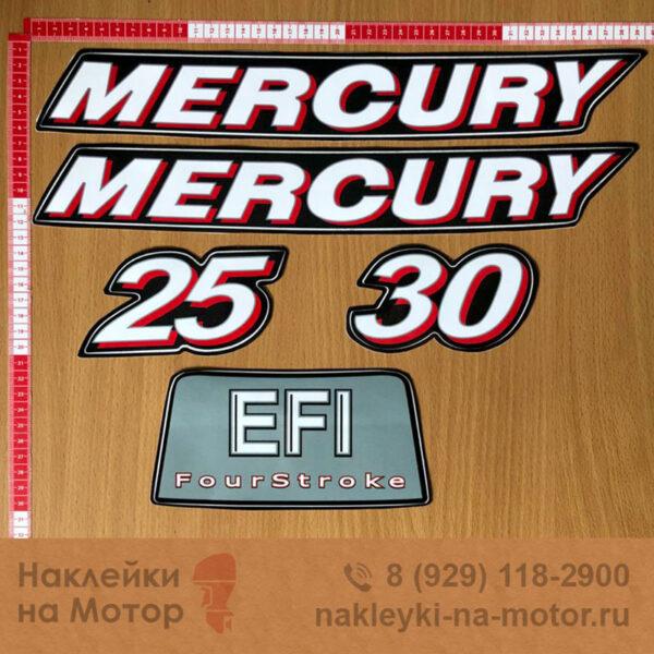 Наклейки на лодочный мотор Mercury 25 30