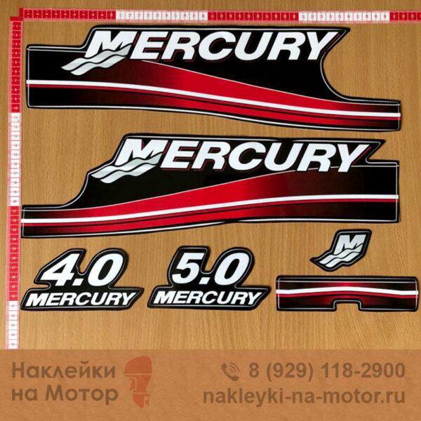 Наклейки на лодочный мотор Mercury 4 5