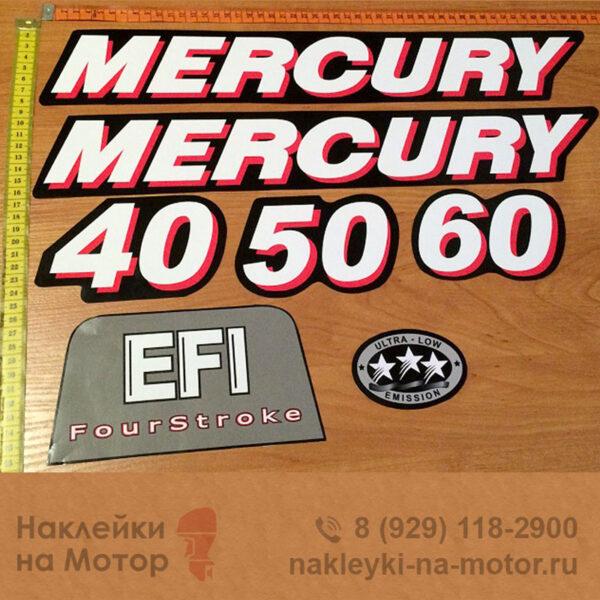 Наклейки на лодочный мотор Mercury 40 50 60