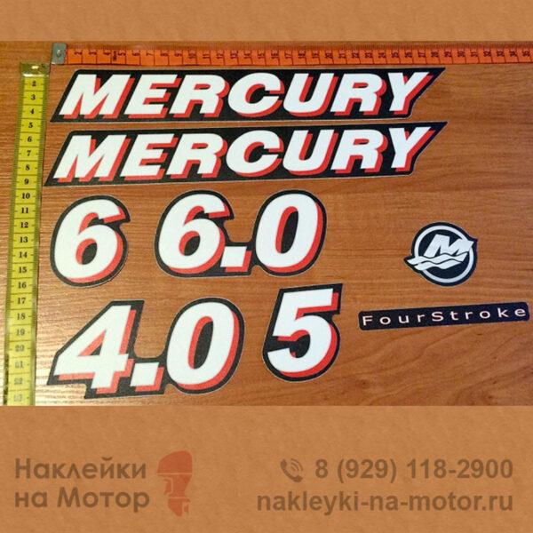 Наклейки на лодочный мотор Mercury 4 5 6