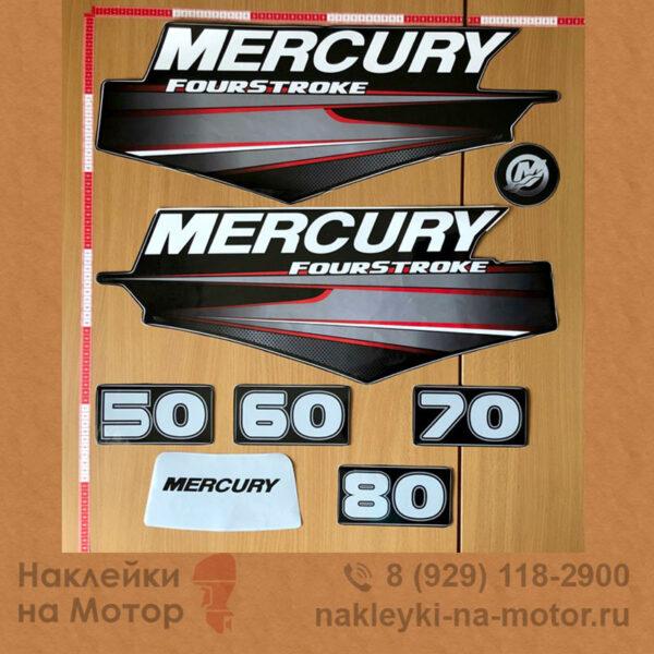 Наклейки на лодочный мотор Mercury 50 60 70 80