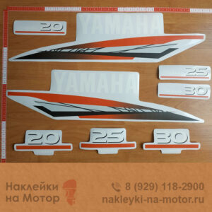 Наклейки на моторы Yamaha 20 25 30