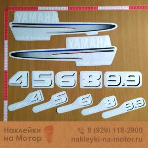 Наклейки на моторы Yamaha 4 5 6 8 9