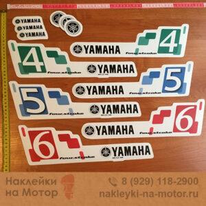 Наклейки на моторы Yamaha 4, 5, 6