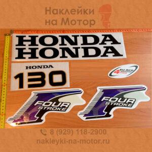 Наклейка на лодочный мотор Honda 130
