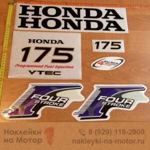 Наклейка на лодочный мотор Honda 175