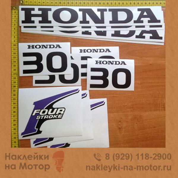 Наклейка на лодочный мотор Honda 30