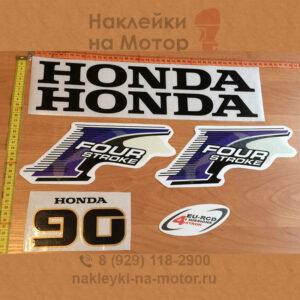 Наклейка на лодочный мотор Honda 90