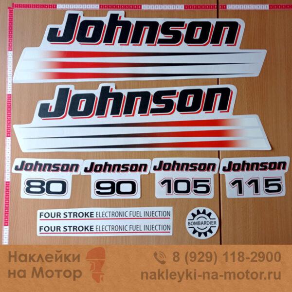 Наклейки на лодочный мотор Johnson 80 90 105 115