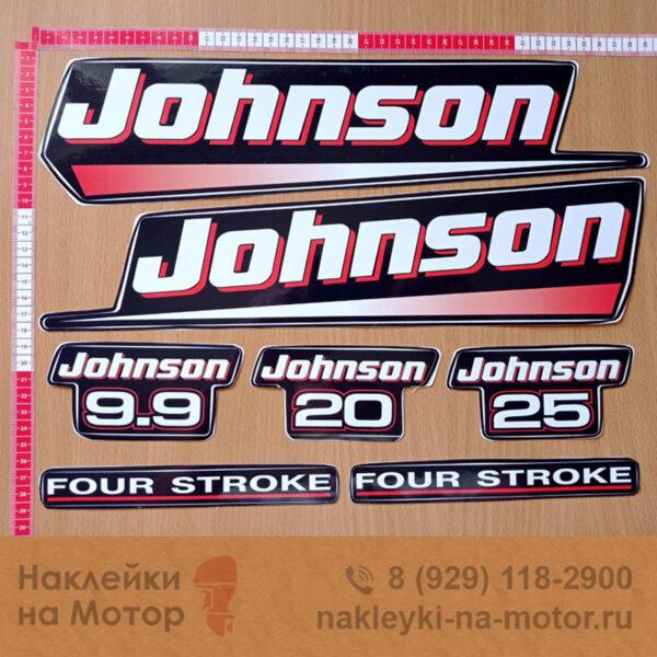 Наклейки на лодочный мотор Johnson 9 9 20 25
