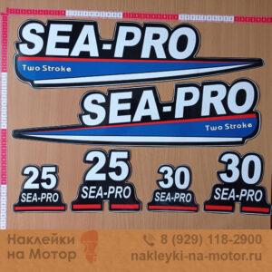 Наклейки на мотор Sea Pro 25 30
