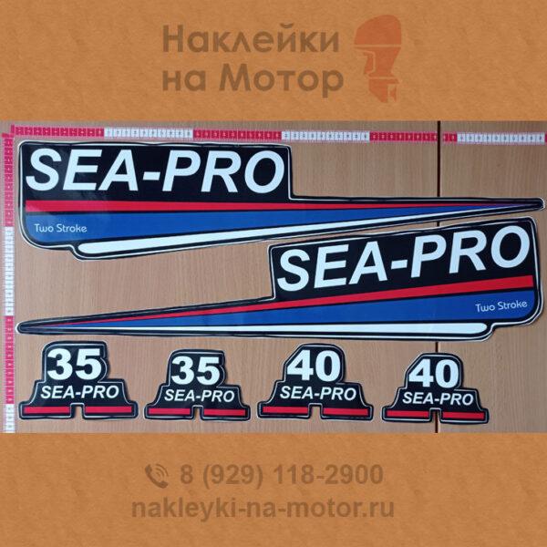 Наклейки на мотор Sea Pro 35 40