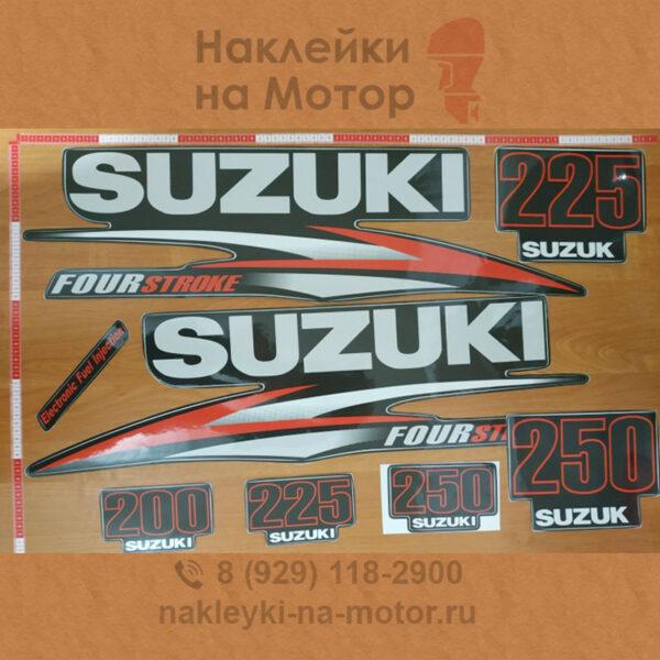 Наклейка на лодочный мотор Suzuki 200 225 250