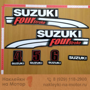 Наклейка на лодочный мотор Suzuki 4 5 6