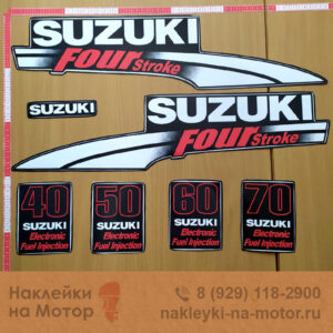 Наклейка на лодочный мотор Suzuki 40 50 60 70