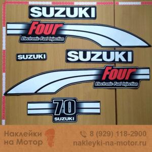 Наклейка на лодочный мотор Suzuki 70