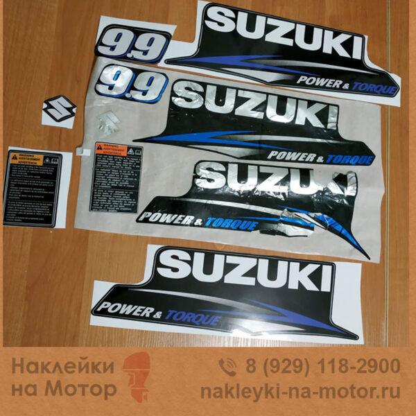 Наклейка на лодочный мотор Suzuki 9 9