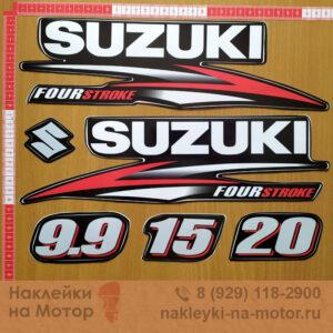 Наклейка на лодочный мотор Suzuki 9 9 15 20