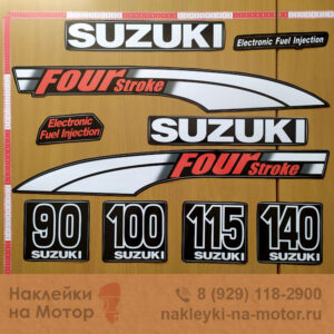 Наклейка на лодочный мотор Suzuki 90-100-115-140