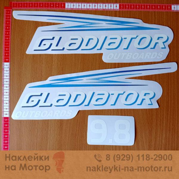 Наклейки на мотор Gladiator 9 8