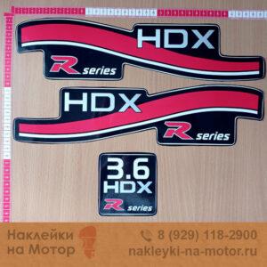 Наклейки на лодочный мотор HDX 3 6
