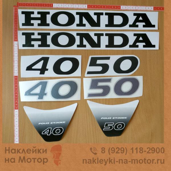 Наклейка на лодочный мотор Honda 40 50