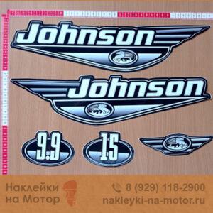 Наклейки на лодочный мотор Johnson 9 15