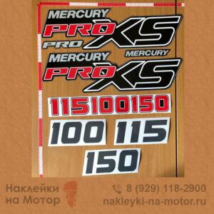Наклейки на лодочный мотор Mercury 100 115 150