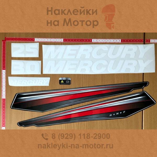 Наклейки на лодочный мотор Mercury 30 25