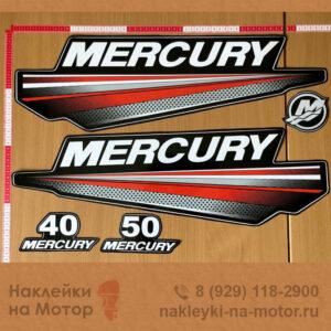 Наклейки на лодочный мотор Mercury 40 50