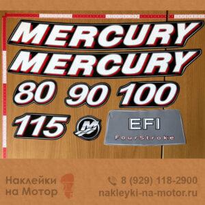 Наклейки на лодочный мотор Mercury 80 90 100 115