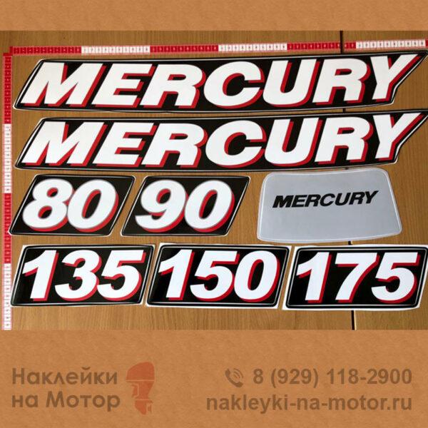 Только наклейка цифры или отдельный элемент на лодочный мотор Mercury 80 90 135 150 175