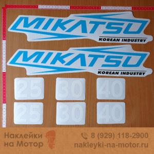Наклейки на лодочный мотор Mikatsu 25 30 40