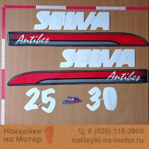 Наклейки на лодочный мотор Selva 25 30