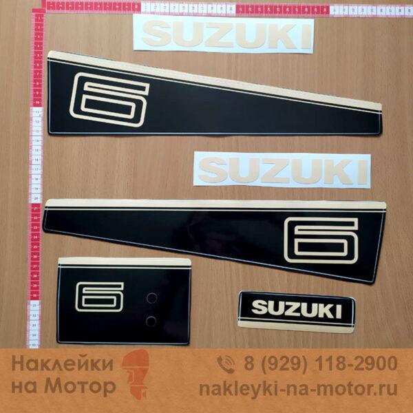 Наклейка на лодочный мотор Suzuki 6