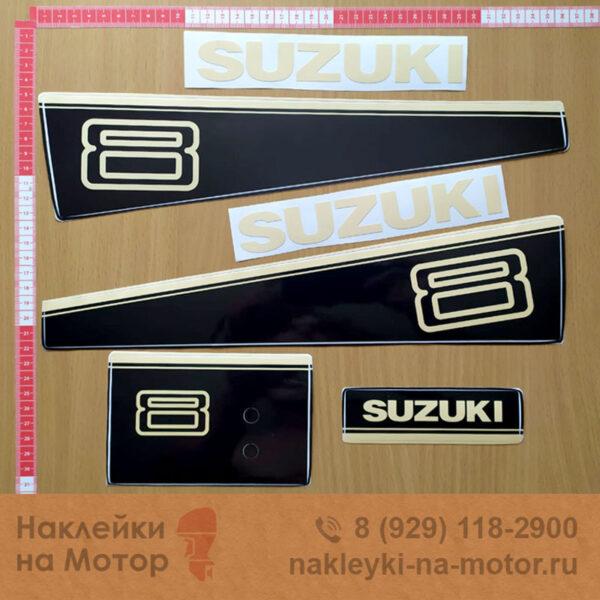 Наклейка на лодочный мотор Suzuki 8