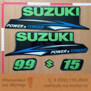 Наклейка на лодочный мотор Suzuki 9 9 15