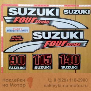 Наклейка на лодочный мотор Suzuki 90 115 140