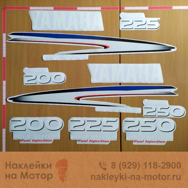 Наклейки на моторы Yamaha 200 225 250