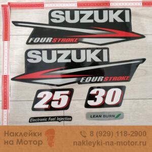 Наклейка на лодочный мотор Suzuki 25 30